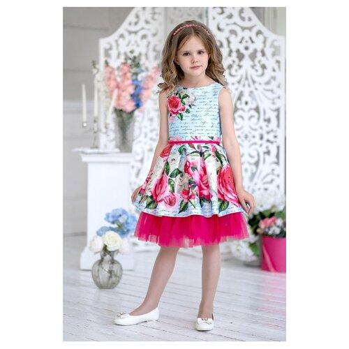 Купить Платье ALOLIKA размер 134-68-60, голубой, Платья и сарафаны