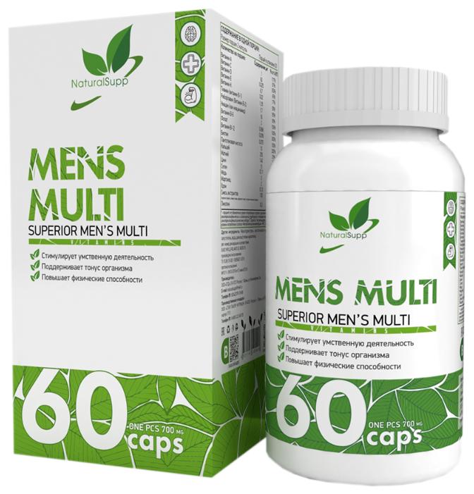 Купить Мужские витамины NaturalSupp Mens Multi 60 капс. по низкой цене с доставкой из Яндекс.Маркета