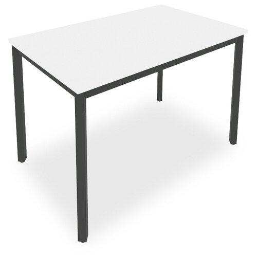 Письменный стол Рива Slim С.СП, ШхГ: 118х72 см, цвет: металл антрацит/белый