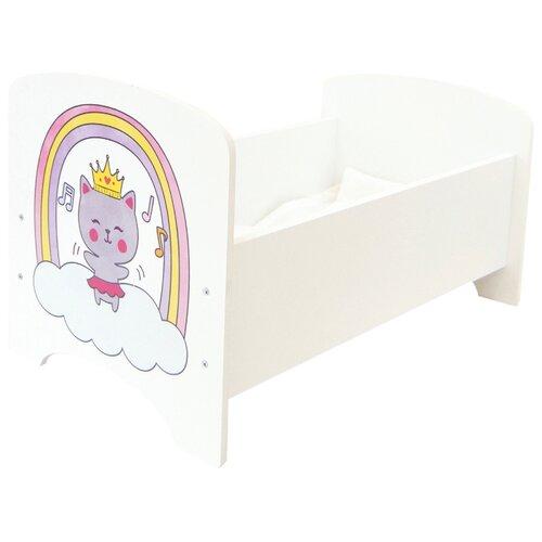 Купить PAREMO Кроватка Мимими Крошка Миу (PFD120-88) белый, Мебель для кукол