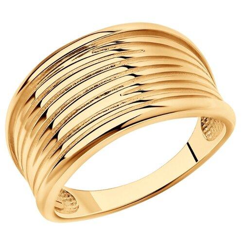 SOKOLOV Кольцо из золочёного серебра 93010856, размер 17.5 по цене 2 513