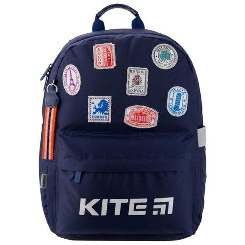 Купить Kite Рюкзак Education Trips K19-719M-3 синий, Рюкзаки, ранцы