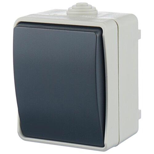 Выключатель 1-полюсный IEK ФОРС EVS10-K03-10-54-DC,10А, серый iek mva20 1 010 b авт выкл ва47 29 1р 10а 4 5ка х ка в иэк