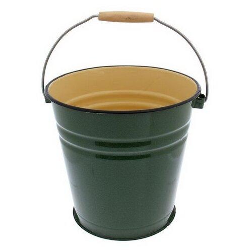 Ведро Сибирские товары эмалированное без крышки, без рисунка (С41124/С41124.П) 12 л зеленый рябчик