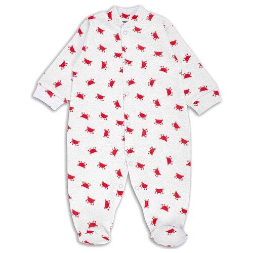 Купить Комбинезон Веселый Малыш размер 68, серый/красный, Комбинезоны