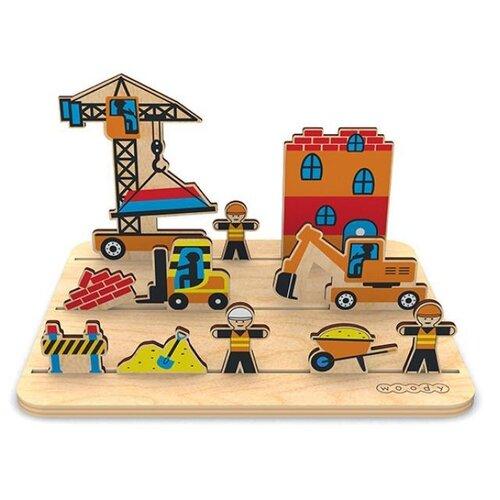 Игровой набор Woody 3D панорама Стройка.