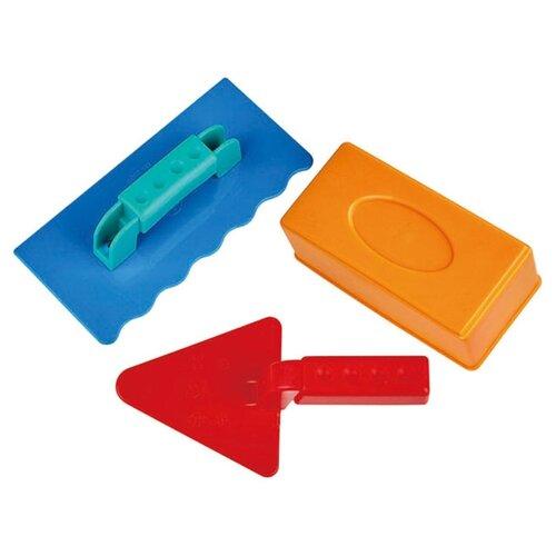 Купить Набор Hape Набор каменщика E4064 синий/оранжевый/красный, Наборы в песочницу