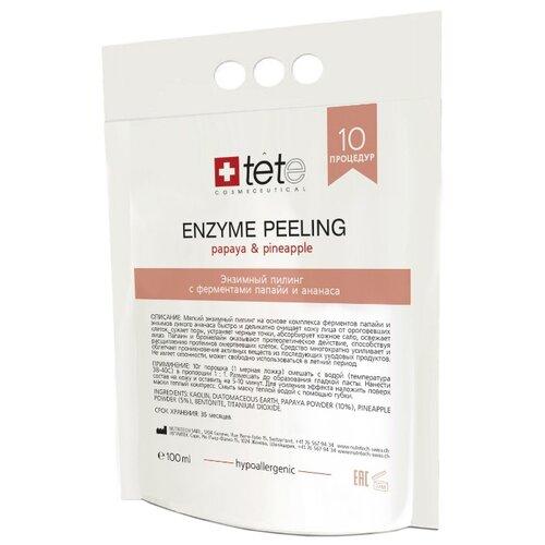 TETe Cosmeceutical Энзимный пилинг для лица Enzyme Peel Papaya & Pineapple с ферментами папайи и ананаса 100 мл  - Купить