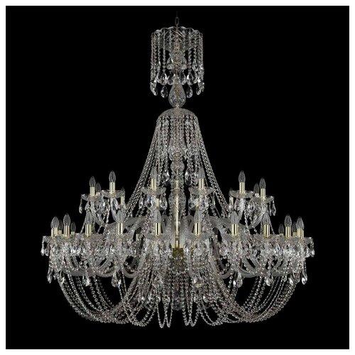 Люстра Bohemia Ivele Crystal 1406 1406/24+12/530/XL-160/G, E14, 1440 Вт bohemia ivele crystal 1406 24 12 12 6 530 230 4d g