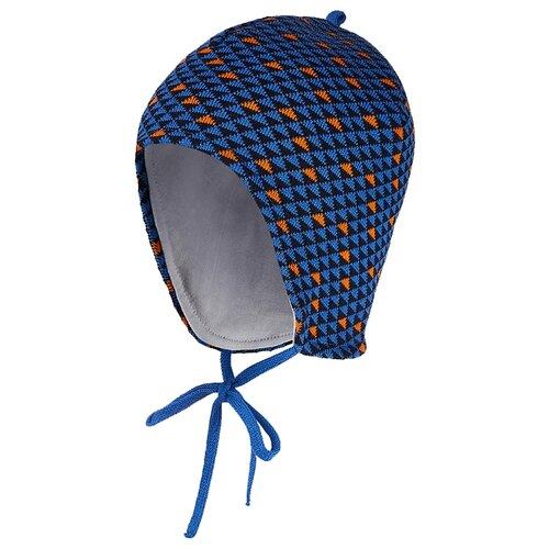 Шапка Oldos Арон размер 46-48, синий/оранжевый