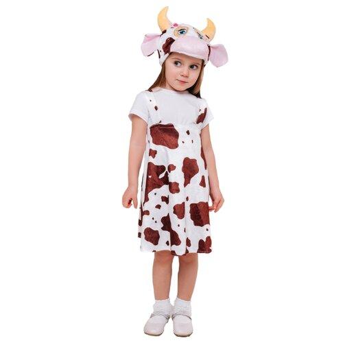 Купить Костюм пуговка Коровка Мурка (4035 к-21), белый/коричневый, размер 110, Карнавальные костюмы