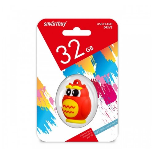 Фото - Флешка SmartBuy Wild Series Owl 32GB красный 1 шт. printio owl