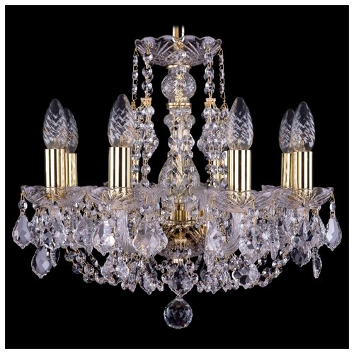 Люстра Bohemia Ivele Crystal 1406 1406/8/141/G/Leafs, E14, 320 Вт люстра bohemia ivele crystal 1716 8 8 4 265b gb