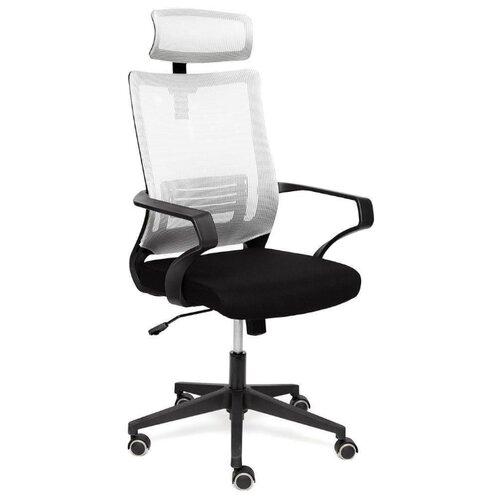 Компьютерное кресло TetChair Mesh-4HR для руководителя, обивка: текстиль, цвет: черный/серый по цене 8 490