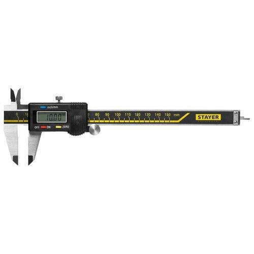 Цифровой штангенциркуль STAYER 34410-150 150 мм, 0.01 мм цифровой штангенциркуль norgau ip67 200мм 0 01мм 040051020