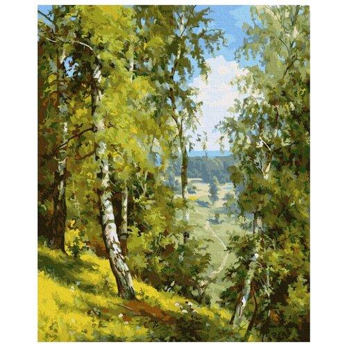 Картина по номерам Molly 40х50 см Прищепа. Березы в лесу картина по номерам 40х50 см леопард в лесу gx8340