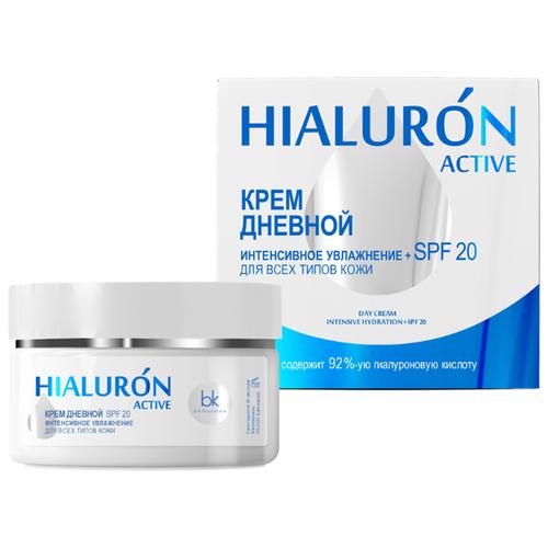 Belkosmex Hialuron Active Крем для лица дневной интенсивное увлажнение SPF 20, 48 г