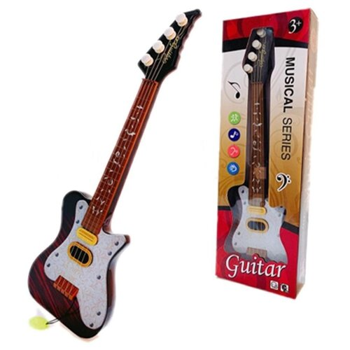 Купить Наша игрушка гитара 8812 коричневый, Детские музыкальные инструменты