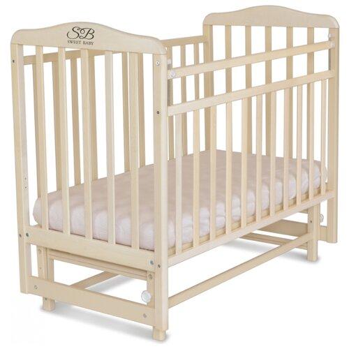 Кроватка SWEET BABY Ennio (качалка), поперечный маятник белое облако детские кроватки sweet baby ennio маятник поперечный