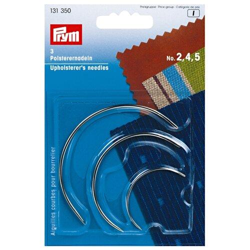 Купить Набор игл ручных Prym 131350 для мебельной обивки, изогнутые, серебристый, 3 шт., Иглы