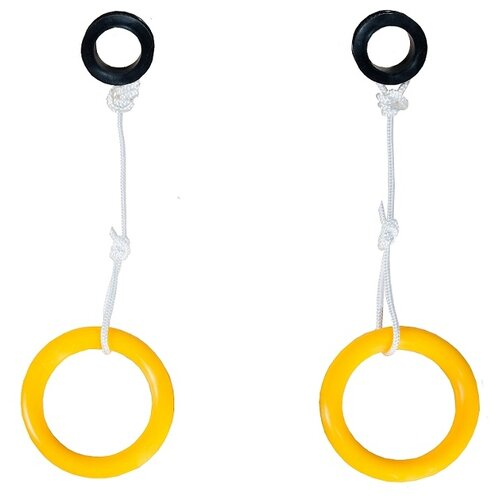 Купить Гимнастические кольца КМС 135 желтый, Игровые и спортивные комплексы и горки