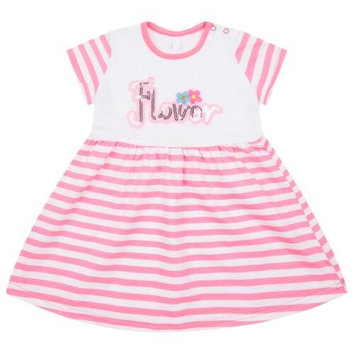 Платье Leader Kids размер 98, белый/розовый