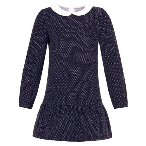 Платье Апрель Школьная пора размер 122-62, синий/белый блуза школьная пора школьная пора mp002xg00oa1