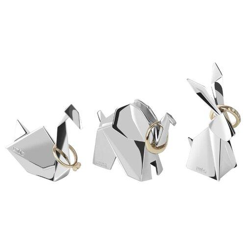 Фото - Подставка для колец Umbra Origami, 3шт, хром подставка для колец umbra anigram олень медь