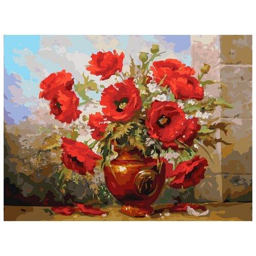 Купить Белоснежка Картина по номерам Маки 30х40 см (3145-CS), Картины по номерам и контурам