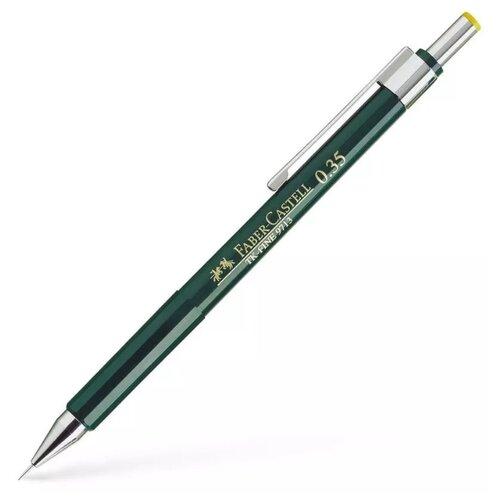 Купить Faber-Castell Механический карандаш TK-Fine 9713 HB, 0, 35 мм 1 шт. зеленый, Механические карандаши и грифели