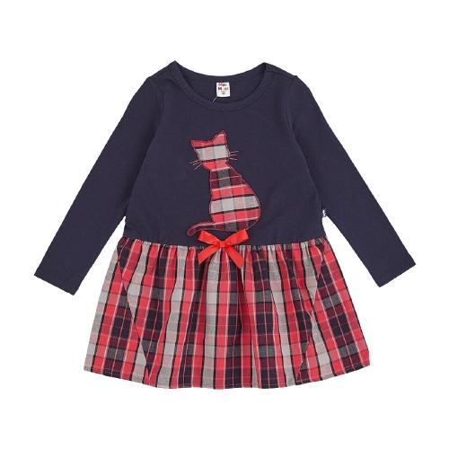 Платье Mini Maxi размер 110, синий/красный платье oodji ultra цвет красный белый 14001071 13 46148 4512s размер xs 42 170