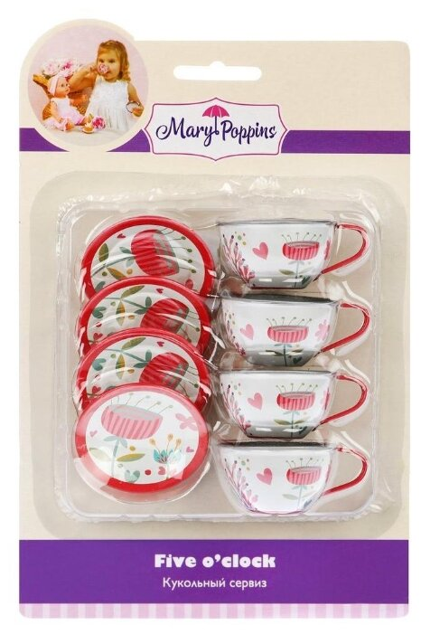 Набор посуды Mary Poppins Цветы 453194