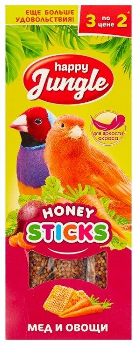 Лакомство для птиц Happy Jungle мед + овощи