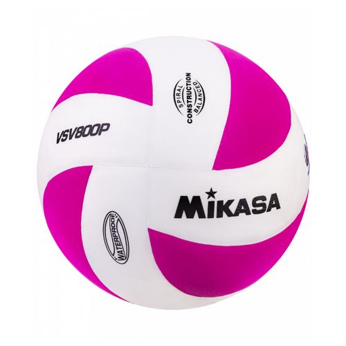 Волейбольный мяч Mikasa VSV800 бело-розовый цена 2017