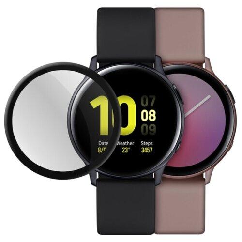 Гибридное стекло Mobius для смарт-часов Samsung Watch Active 2 3D Full Cover (44 мм)