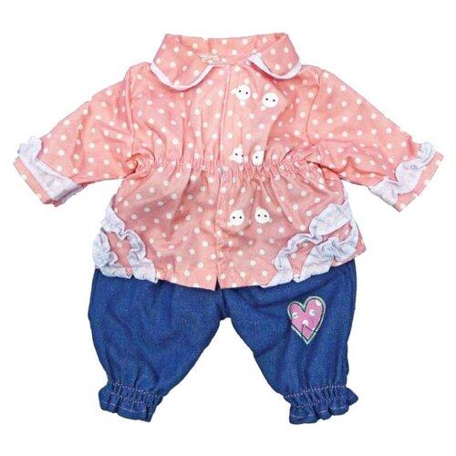 Mary Poppins Кофточка и штанишки для кукол 38 - 42 см 452029 синий/розовый брюки джинсы и штанишки artie штанишки для девочки жирафы
