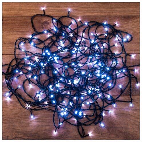 Гирлянда NEON-NIGHT Твинкл Лайт, 120 LED, 1200 см, 120 ламп, белый/зеленый провод гирлянда neon night колокольчики 20 led 280 см 20 ламп разноцветный зеленый провод