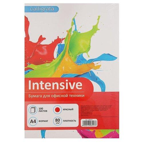 Фото - Бумага Calligrata A4 Intensive 80 г/м² 100 лист. красный 1 шт. бумага iq color а4 color 120 г м2 250 лист кораллово красный co44 1 шт
