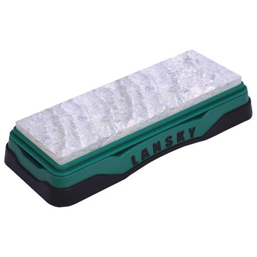 Точильный камень Lansky Soft Arkansas Stone (LBS6S), новакулит зеленый/черный точильный камень arkansas lansky lbs6h hard твердый