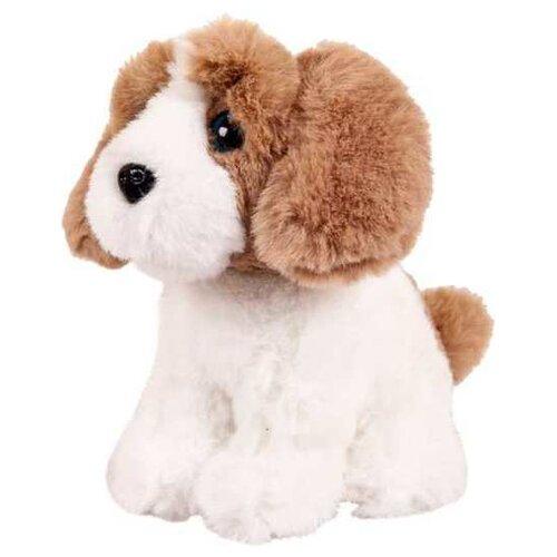 Мягкая игрушка Junfa Toys Собачка белая с рыжим 15 см