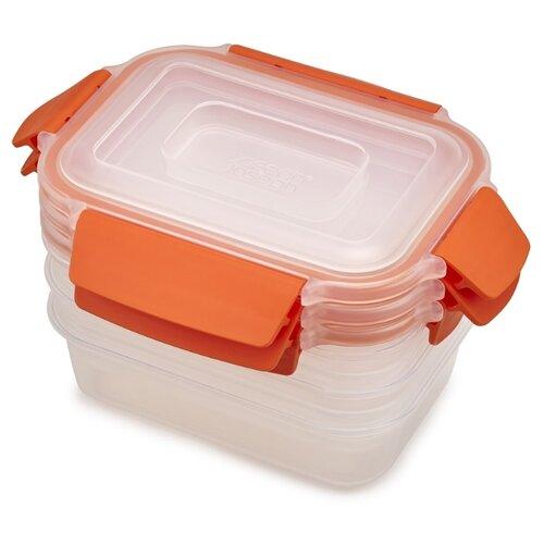 Joseph Joseph Набор контейнеров для хранения продуктов Nest Lock 81084 оранжевый joseph joseph nest зеленый