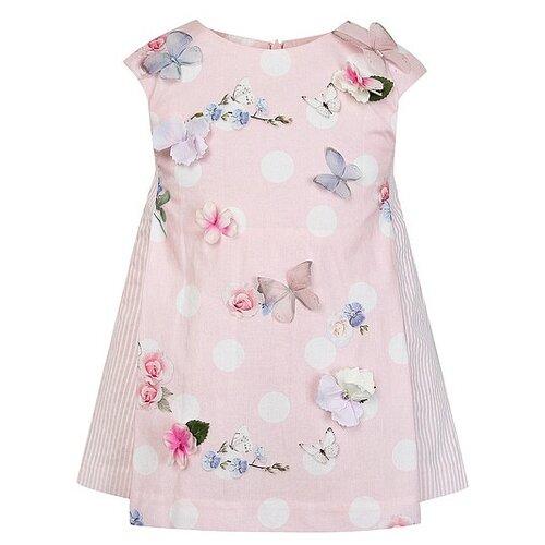 Платье Lapin House размер 98, розовый/цветочный принт