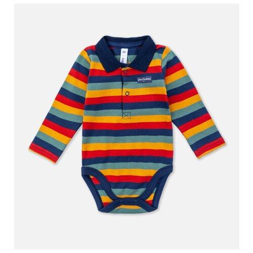 Боди playToday размер 56, темно-синий/красный/темно-зеленый боди для мальчика cherubino цвет красный cwn 4164 185 размер 56