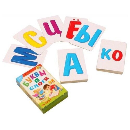 Купить Набор карточек Рыжий кот Буквы и слоги 55 шт., Дидактические карточки