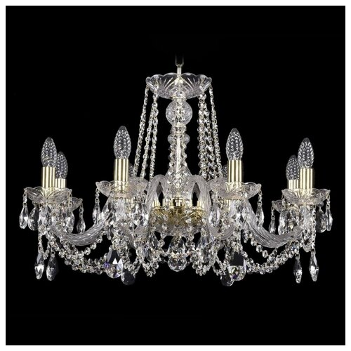 Люстра Bohemia Ivele Crystal 1402 1402/8/240/G, E14, 320 Вт люстра bohemia ivele crystal 1402 1402 8 195 g m711 e14 320 вт