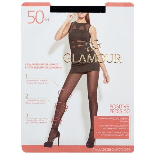 Колготки Glamour Positive Press 50 den, размер 5-XL, nero (черный) колготки glamour betulla 20 den размер 5 xl nero черный