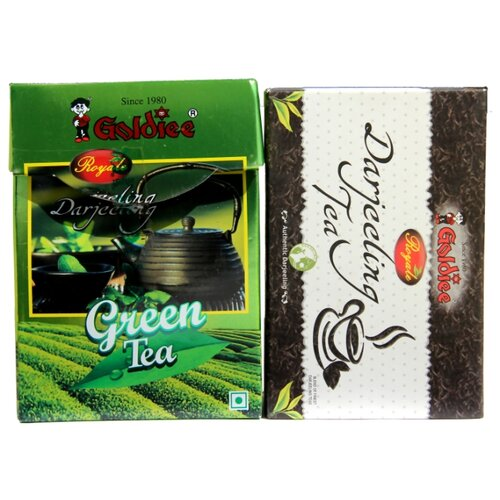 Чай черный и зеленый Goldiee Дарджилинг Darjeeling Tea и Darjeeling Green Tea, набор