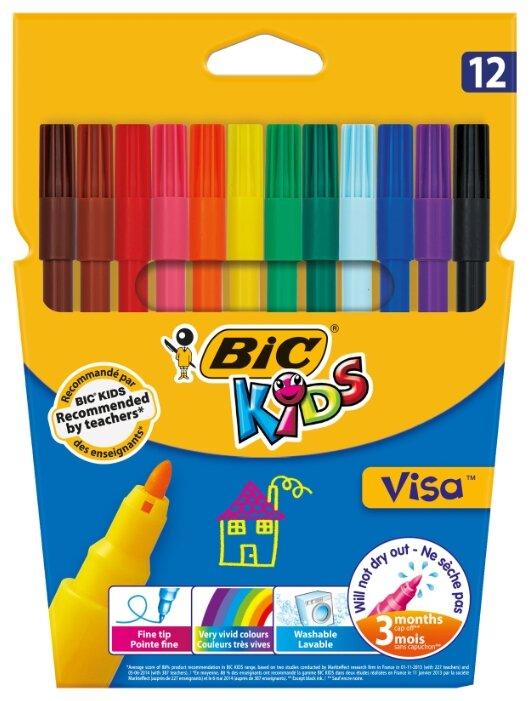 "BIC Фломастеры ""Visa"" 12 шт. (888695)"