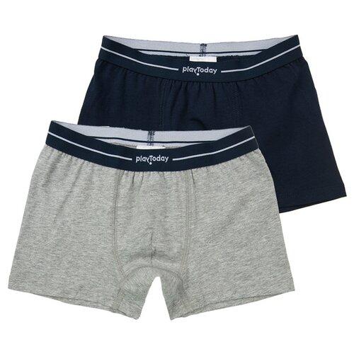 Купить Трусы playToday 2 шт., размер 98-104, темно-синий/серый, Белье и пляжная мода