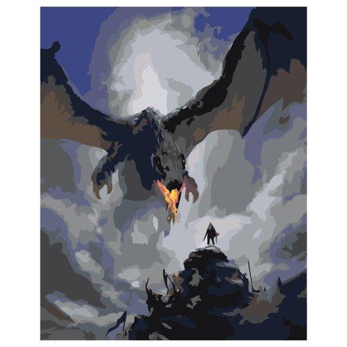 Купить Дракон Раскраска картина по номерам на холсте Z-AB240 40х50, Живопись по номерам, Картины по номерам и контурам